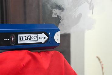 Blower-Door Test Prüfung Nebel Maschine
