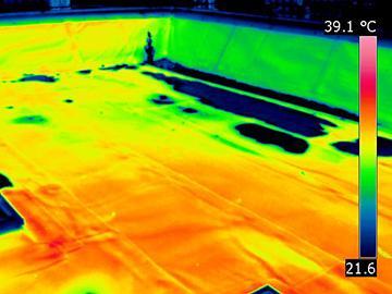 Flachdach Leck Ortung Ergebnis Wärmebild