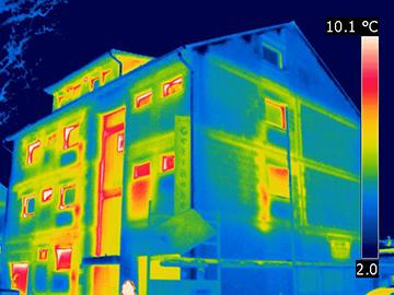 Gebäudethermografie Wärmebild Frankfurt